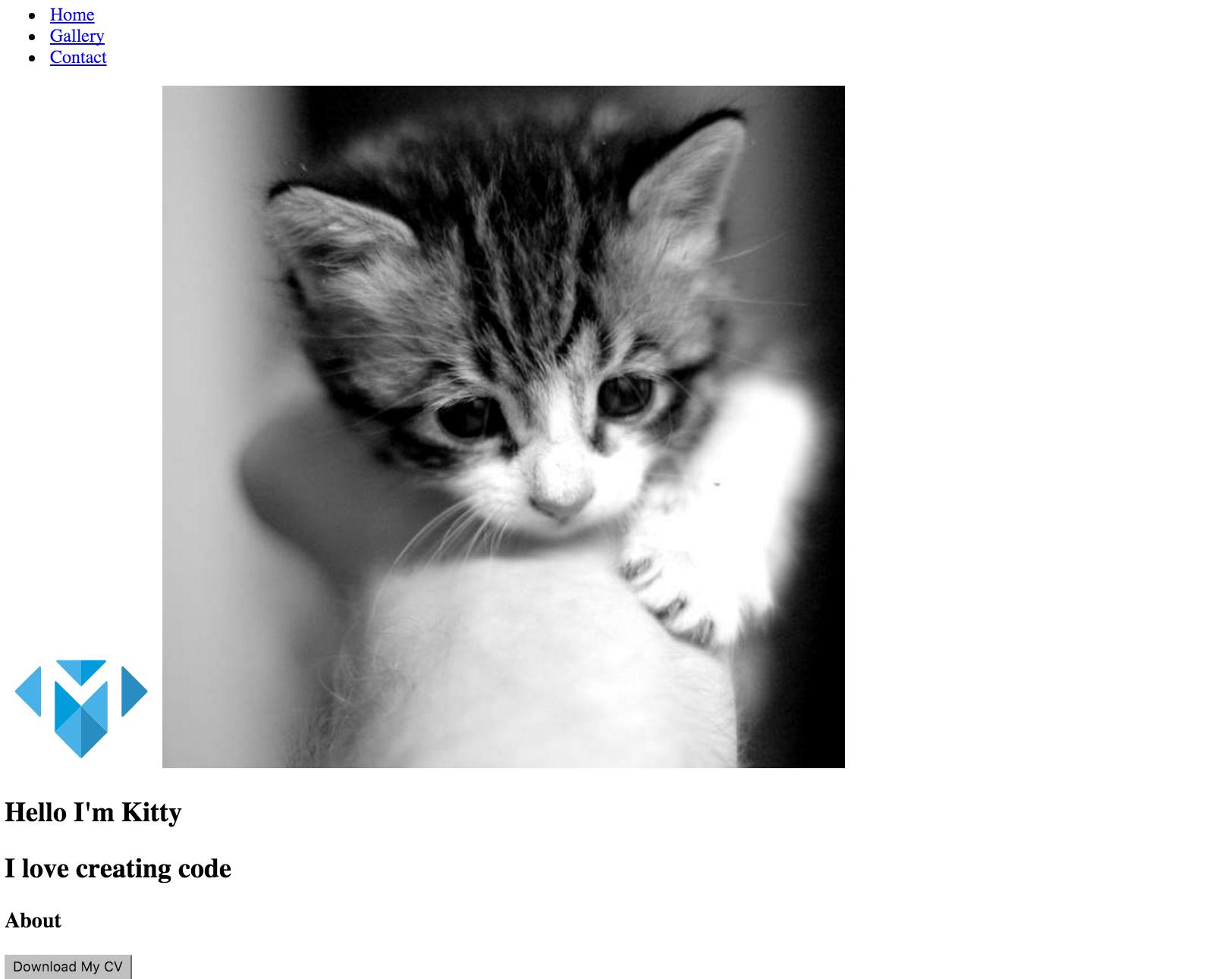Portfolio without CSS