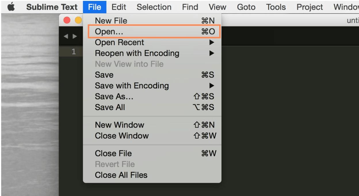 Open folder in Sublime