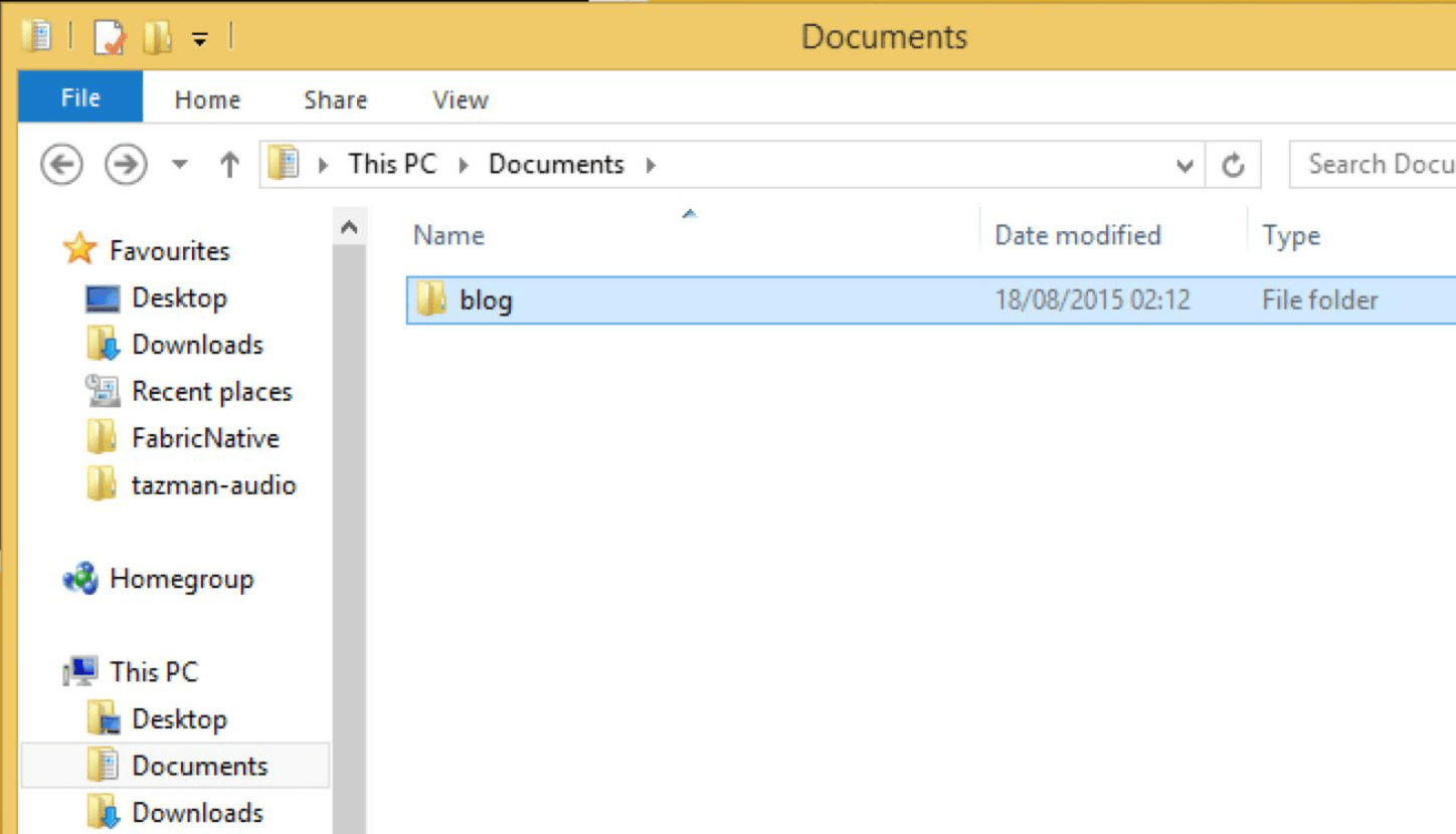 Open the file explorer