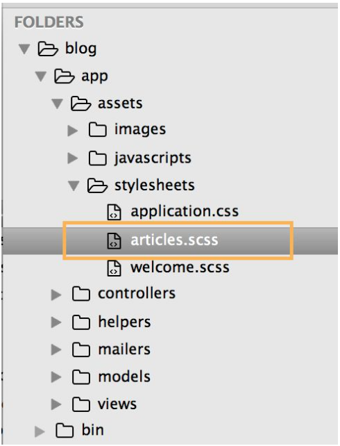 The CSS file in Sublime