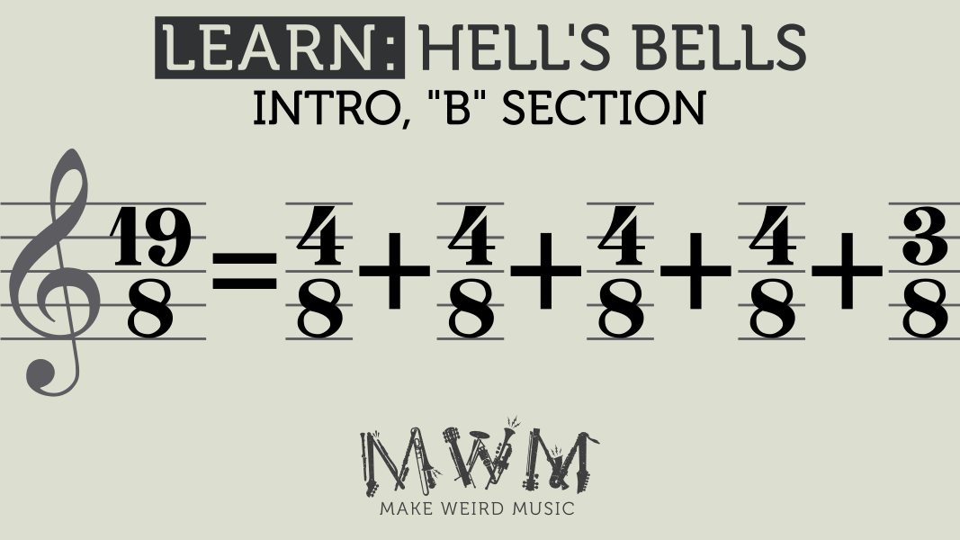 B section: 19/8 = 4/8 + 4/8 + 4/8 + 4/8 + 3/8
