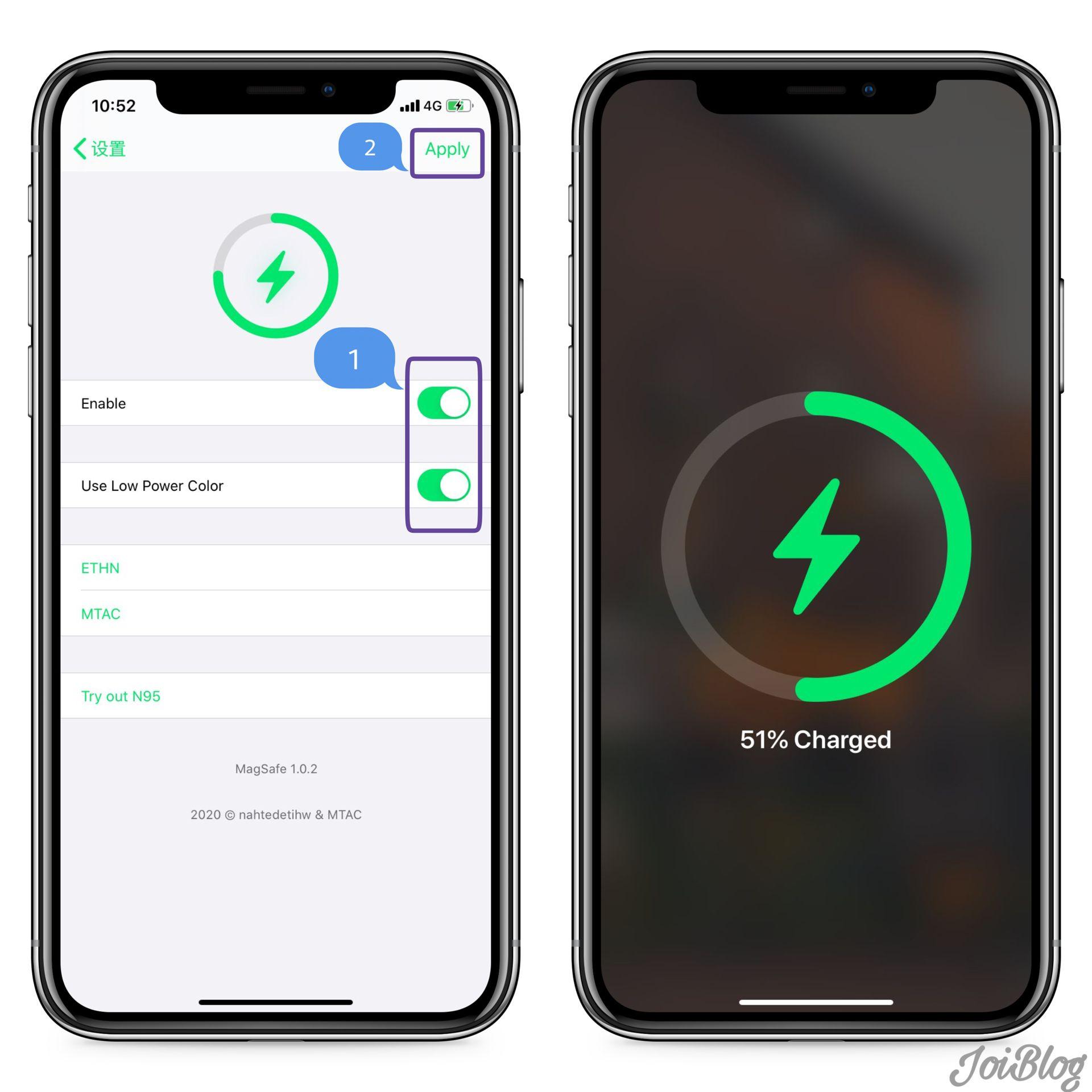 玩转越狱-iPhone12充电动画插件-仿iOS14插件
