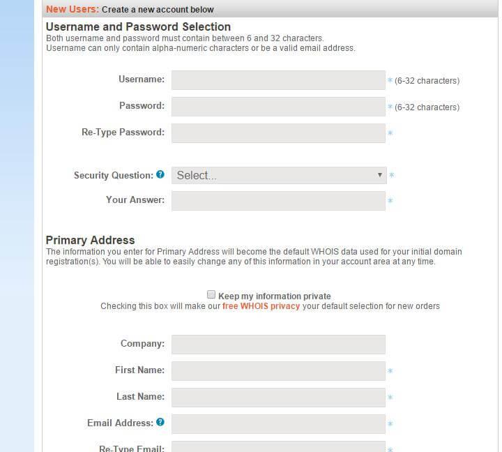 namesilo用户注册信息