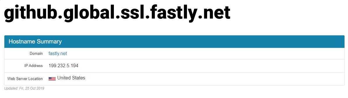 github.global.ssl.fastly.net 对应 IP 结果