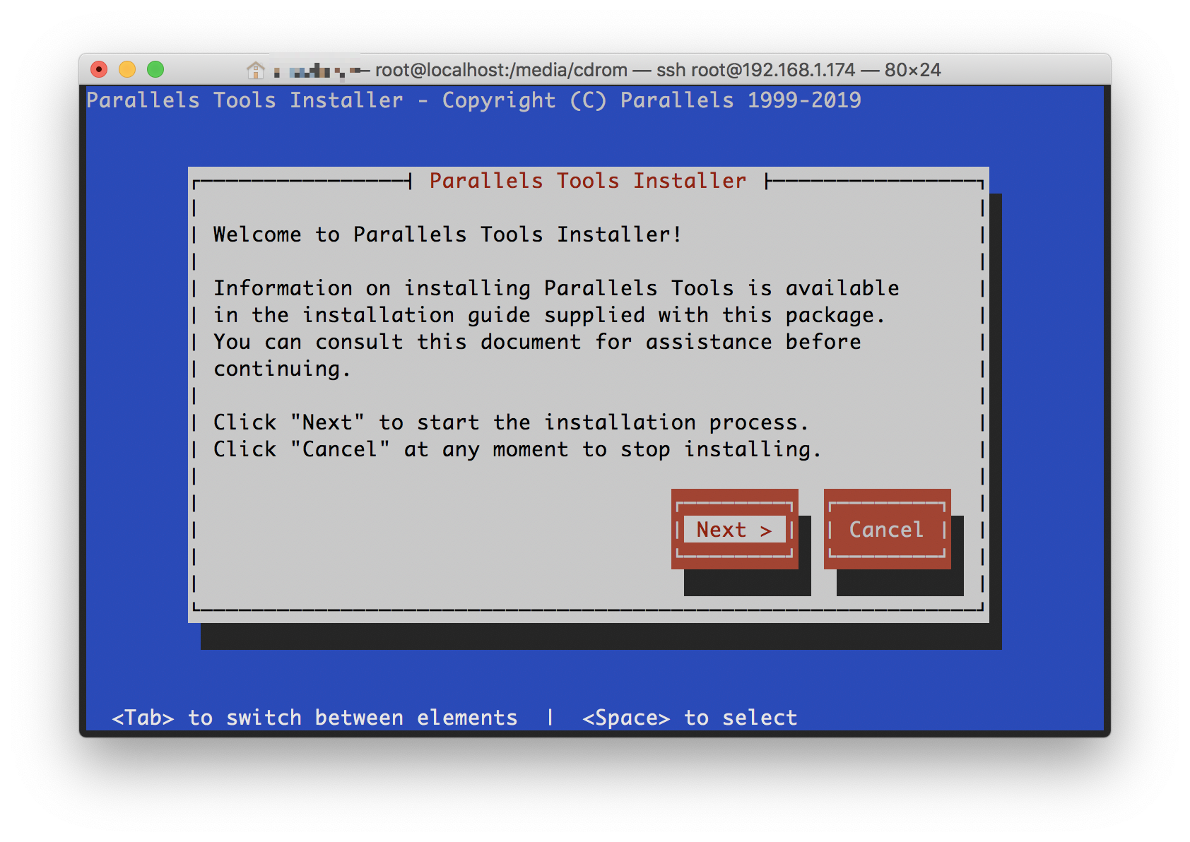 《Parallels Tools在Linux虚拟机中手动安装》