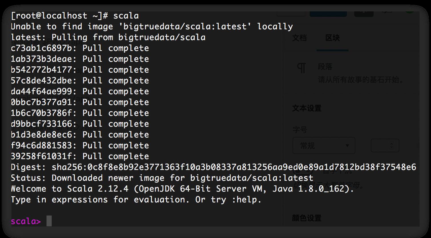 《docker scala部署》
