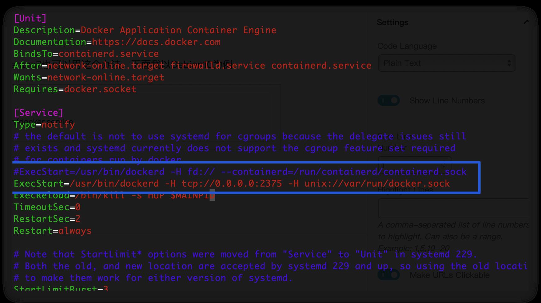 《Linux下开启Docker远程访问服务》