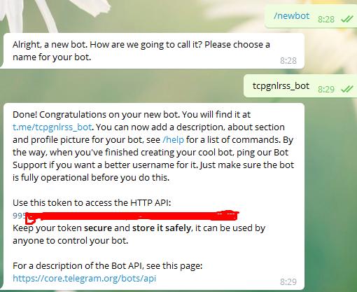 从零到一搭建telegram Rss机器人