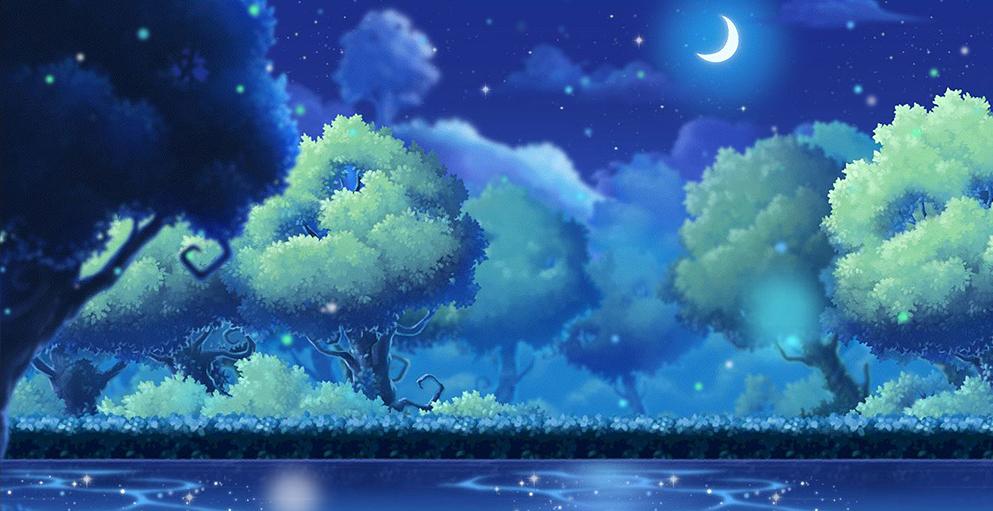 魔法森林的蔚蓝之光