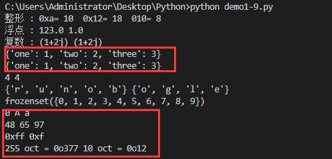 Python数据类型转换函数使用