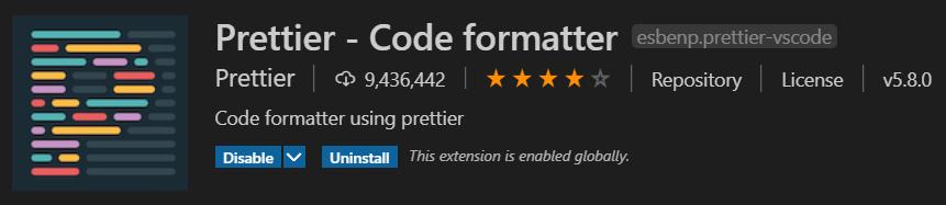 Prettier - Code formatter插件
