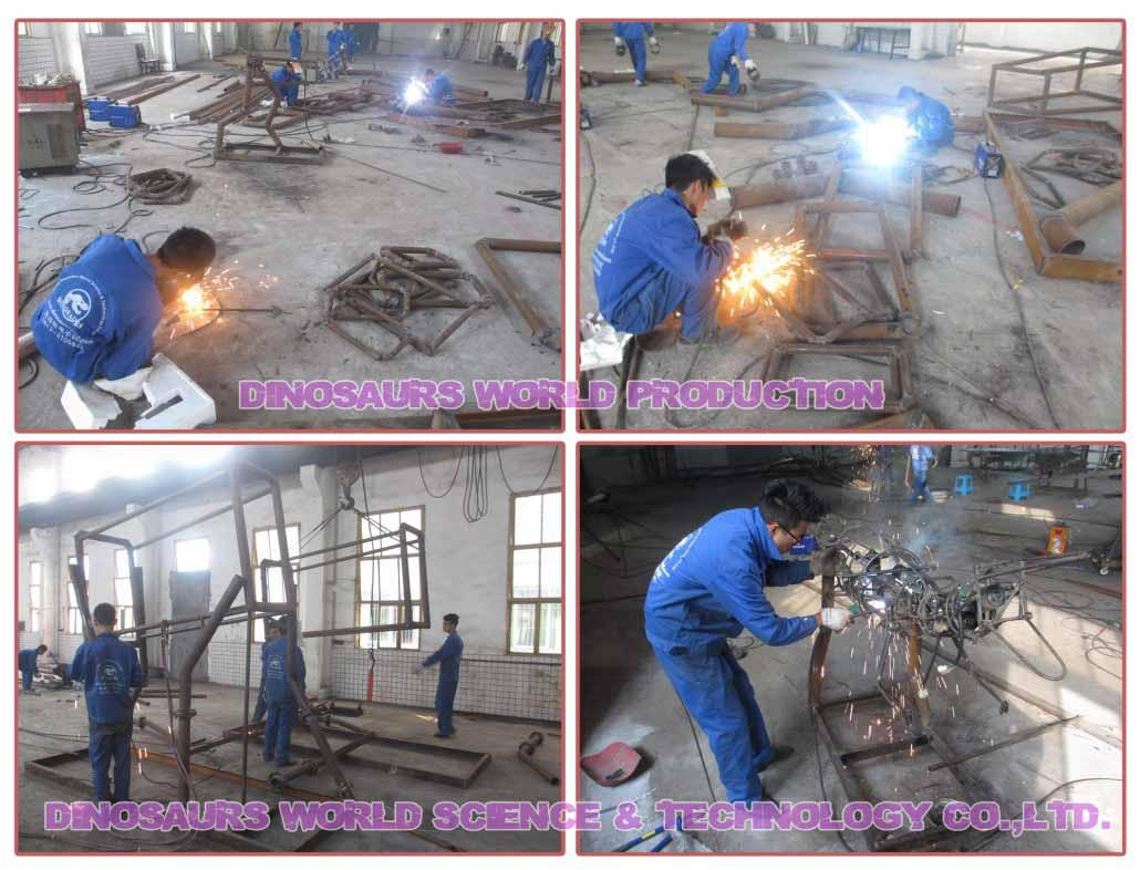 Animatronic-Dinosaurs-Metal-Framing-For-The-Main-Structure