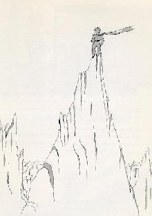 小王子-高山 锋利的悬崖峭壁