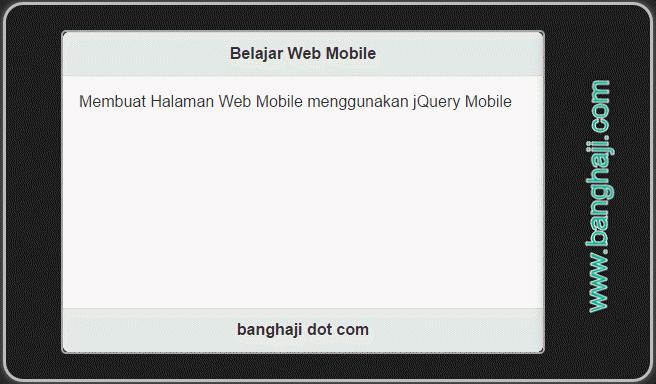jQuery Mobile (04): Konsep Multiple Page, Satu File Banyak Halaman