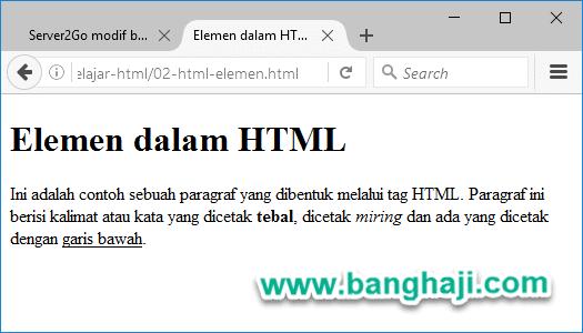 Belajar HTML (02): Elemen dan Atribut