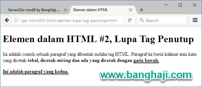 Tampilan file 03-html-elemen-lupa-tag-penutup.html