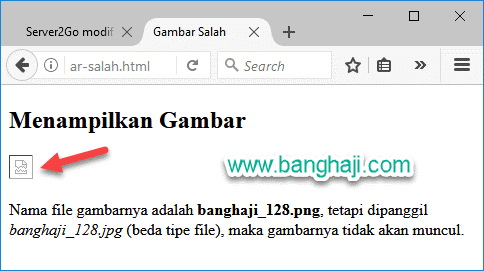 HTML Gambar Salah
