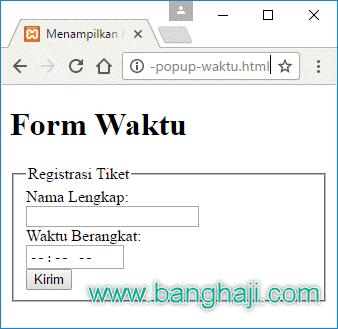 Format Waktu HTML5