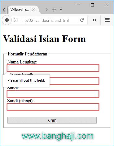 Kode Praktis HTML5: Cara Mudah Validasi Form Wajib Diisi
