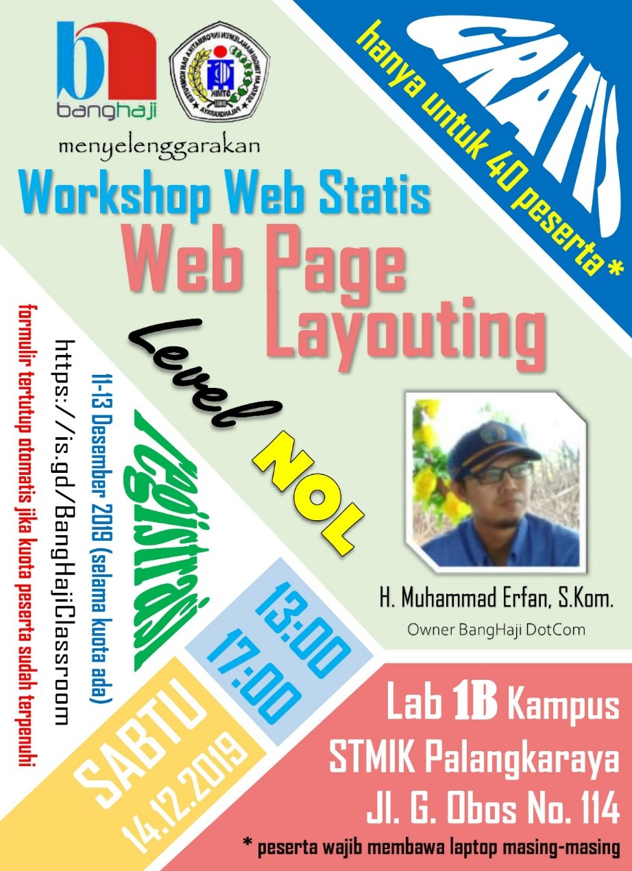 Workshop Web Page Layouting Flyer