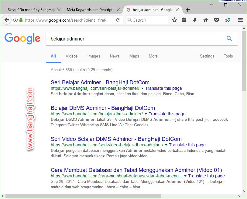 Contoh Hasil Pencarian BangHaji DotCom