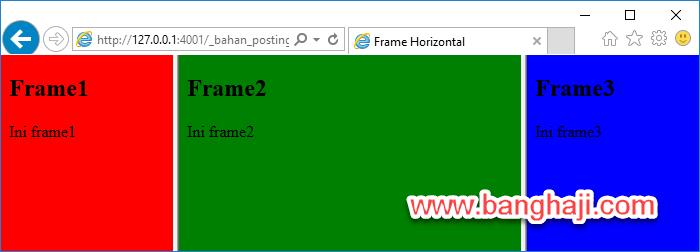 Belajar HTML (15): Membuat Frame