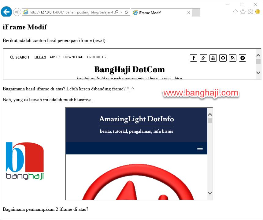 HTML iFrame Modif