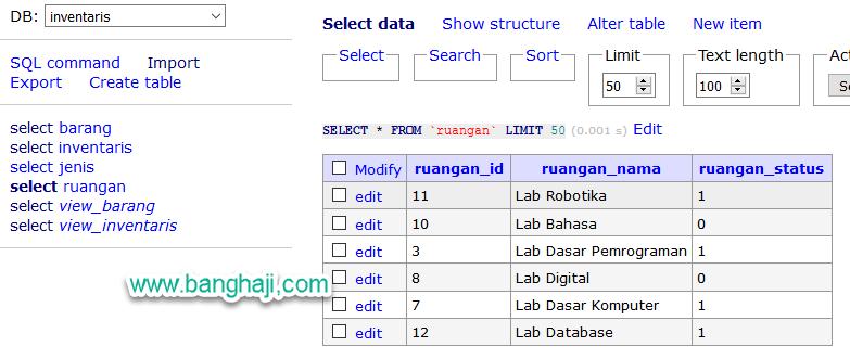 Adminer SQL Import Result