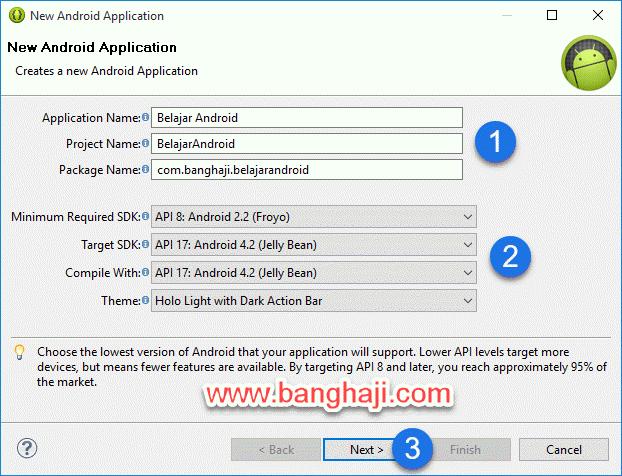 Eclipse, Mengatur Paket SDK