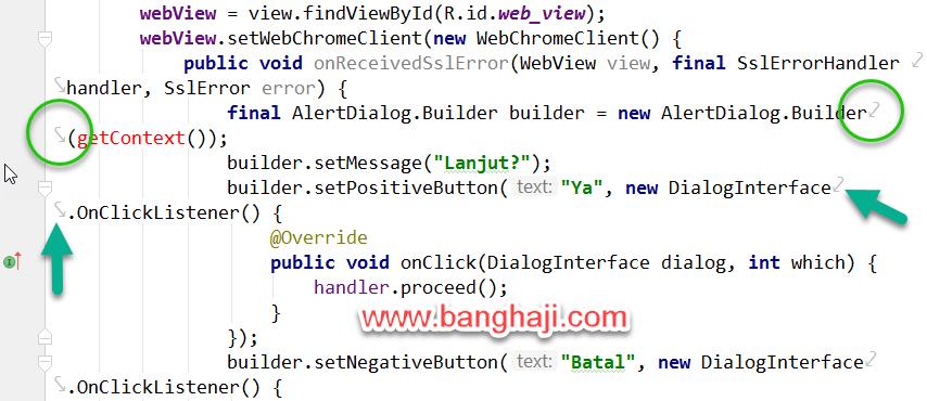 Memotong Kode Android Studio Soft Wrap