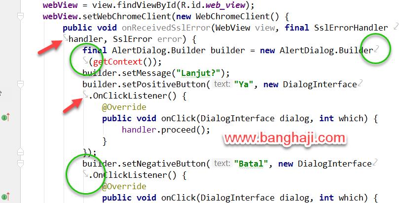 Memotong Kode Android Studio Original Line