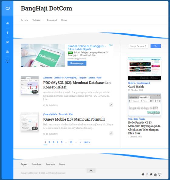 BangHaji DotCom Layout