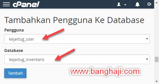 Membuat Database cPanel - Menghubungkan Database dan Pengguna