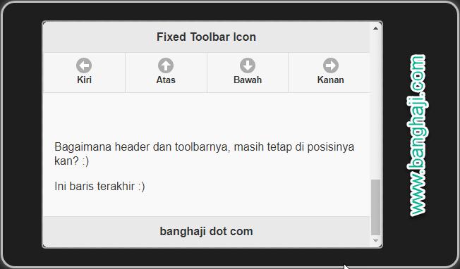 Toolbar dengan Icon dan Teks