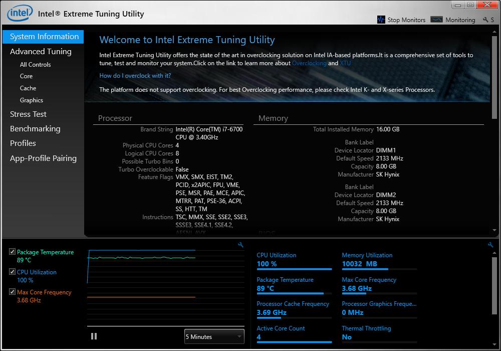 Chocolatey Gallery | Intel® Extreme Tuning Utility (Intel® XTU) (Install) 6.4.1.23