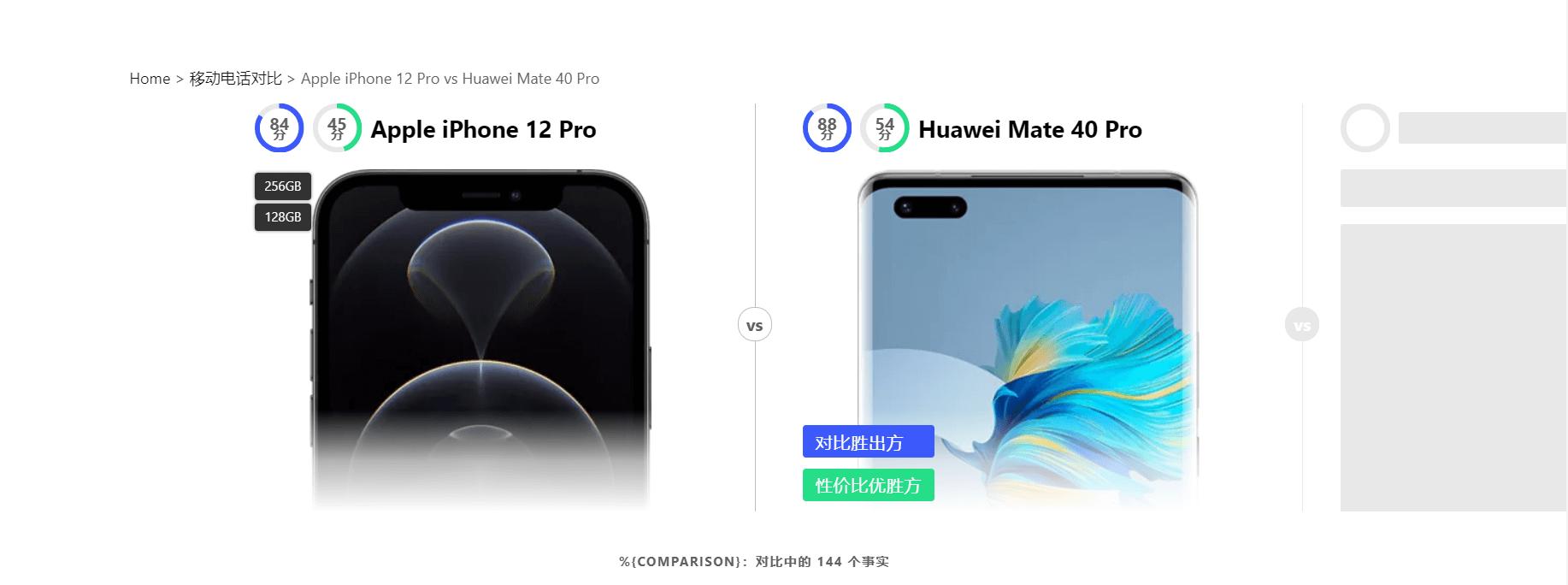 万物皆可对比-手机电脑显卡等商品对比网站