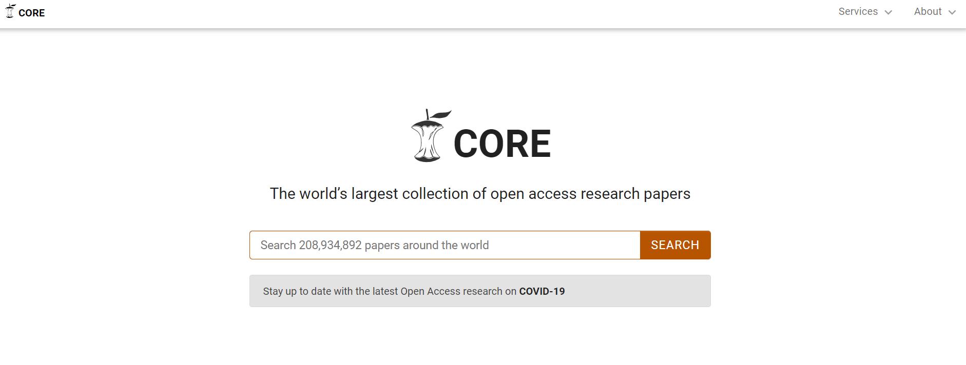 国外文献免费搜索网站-CORE