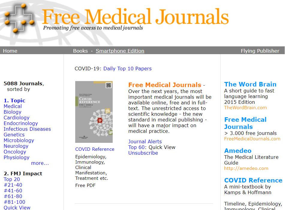 国外文献免费搜索网站-Free MedicalJournals