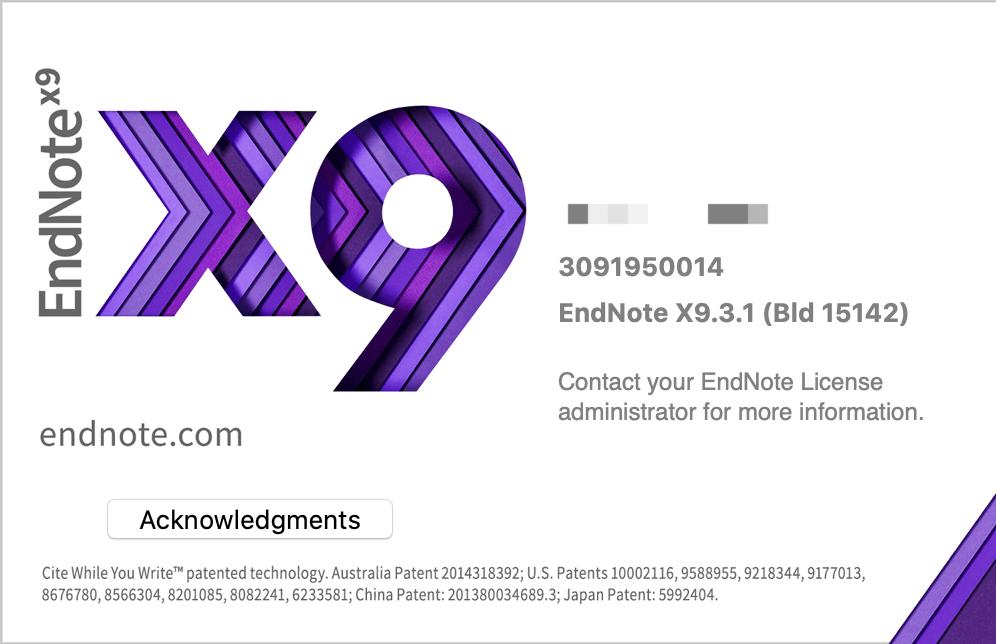 EndNote X9 Mac截图1
