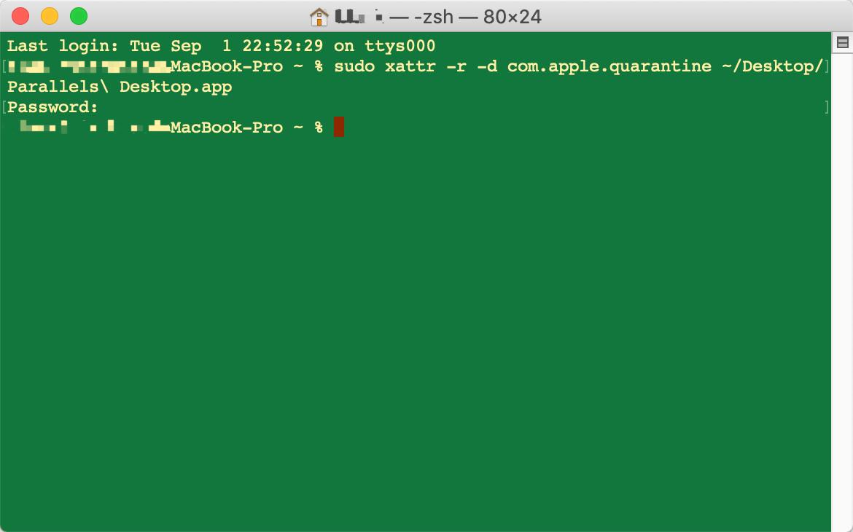 "Parallels Desktop""已损坏,无法打开。您应该推出磁盘映像。"