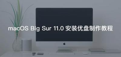 全新macOS Big Sur系统安装盘制作教程