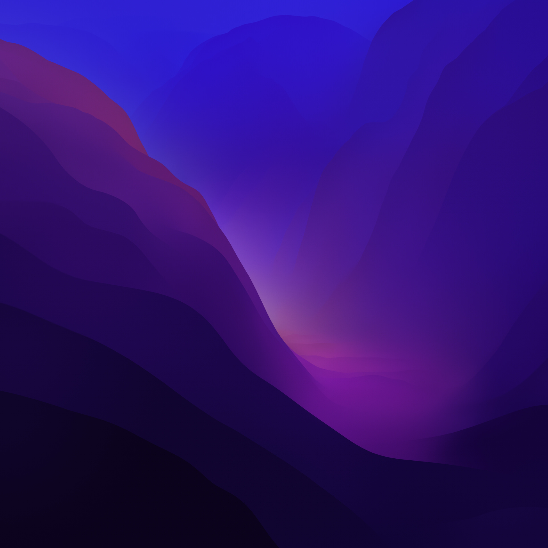 macOS Monterey 系统自带壁纸 macOS-12-Dark