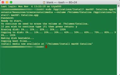 macOS Catalina 正式版安装优盘制作图文方法