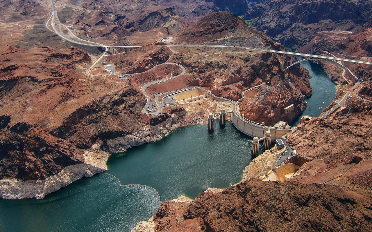 Hoover Dam Aerial