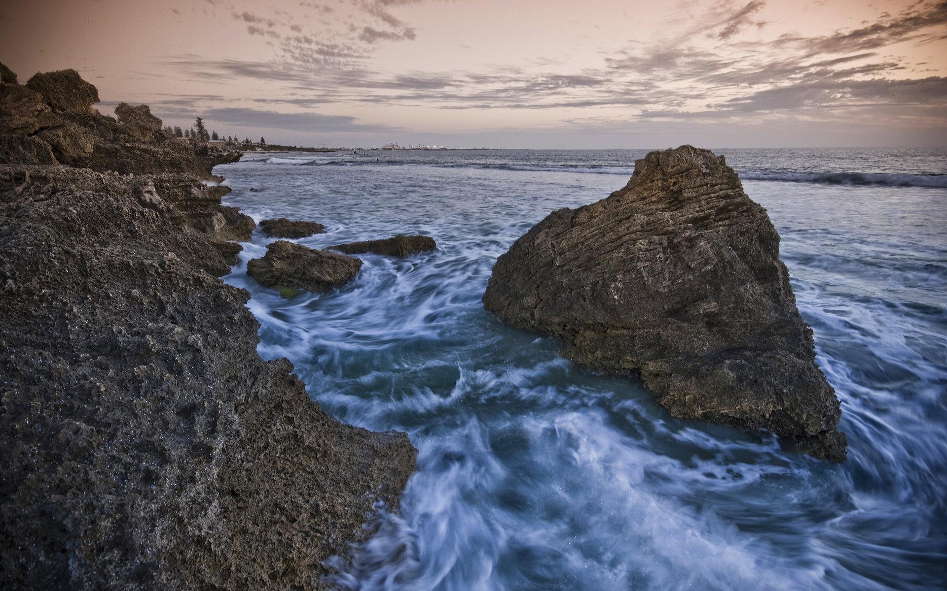 海边日落景色高清壁纸