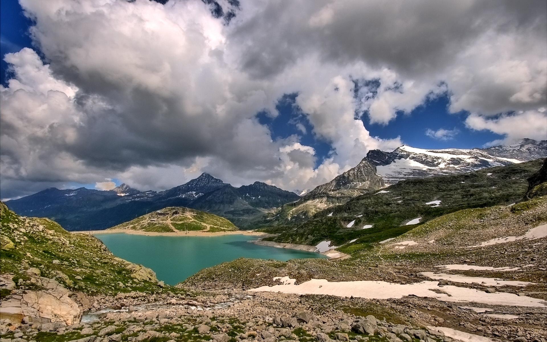 阿尔卑斯山景色高清壁纸