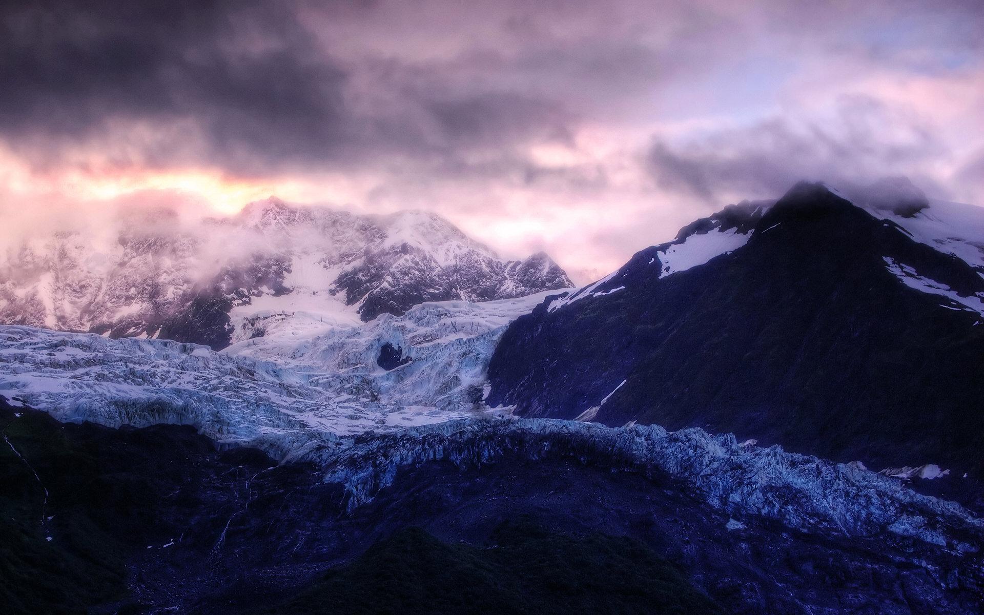 冰川日出高清壁纸