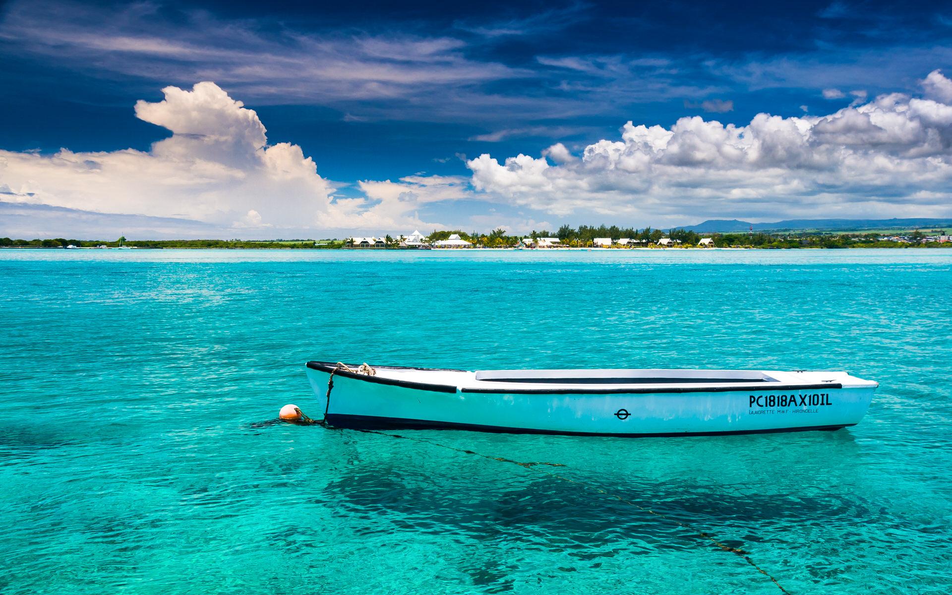 毛里求斯蓝湾高清壁纸