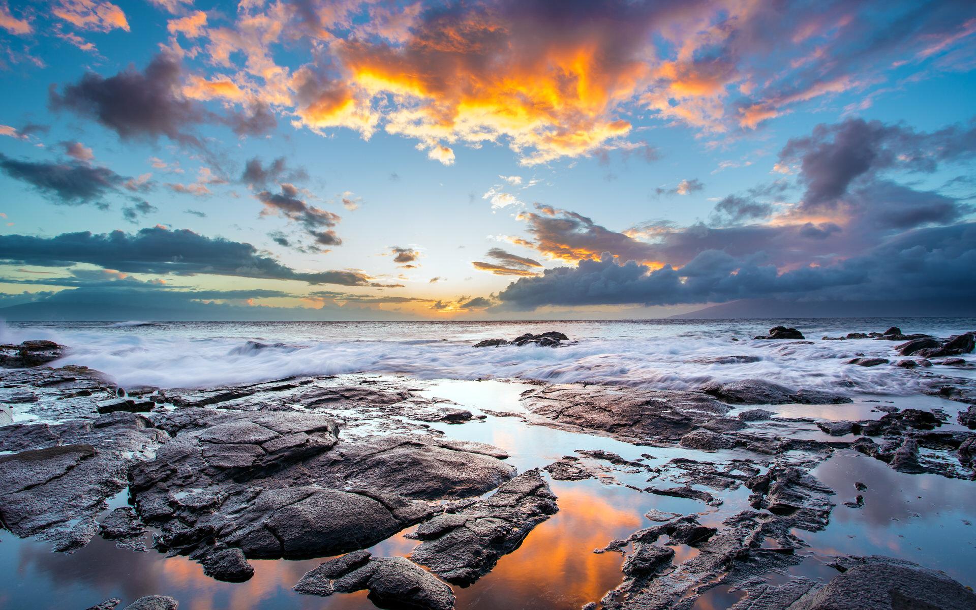 卡帕鲁阿海滩日落高清壁纸