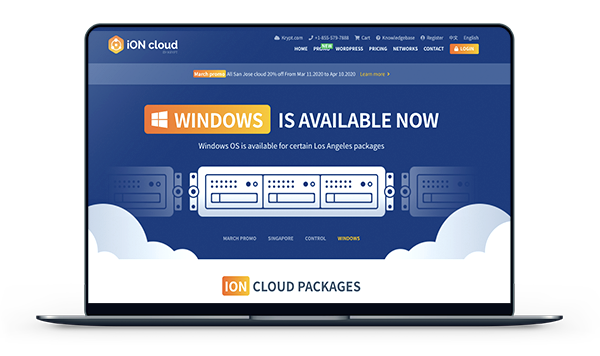 ION Cloud - 圣何塞VPS 终生八折 月付8美元-A17主机网